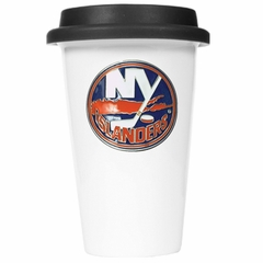 New York Islanders Ceramic Travel Cup (Black Lid)