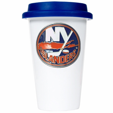 New York Islanders Ceramic Travel Cup (Team Color Lid)