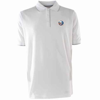 New York Islanders Mens Elite Polo Shirt (Color: White)