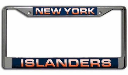 New York Islanders Laser Etched Chrome License Plate Frame