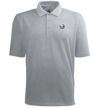 New York Islanders Mens Pique Xtra Lite Polo Shirt (Color: Gray)