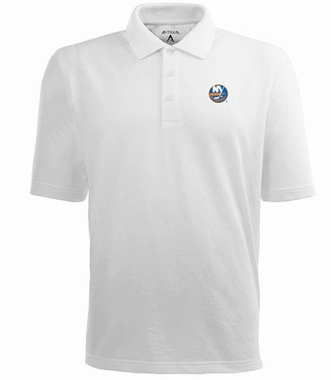 New York Islanders Mens Pique Xtra Lite Polo Shirt (Color: White)