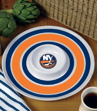 New York Islanders Plastic Chip and Dip Plate