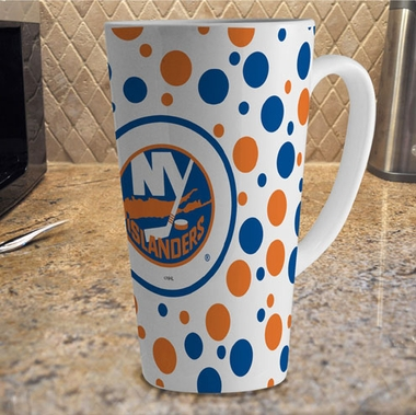 New York Islanders Polkadot 16 oz. Ceramic Latte Mug