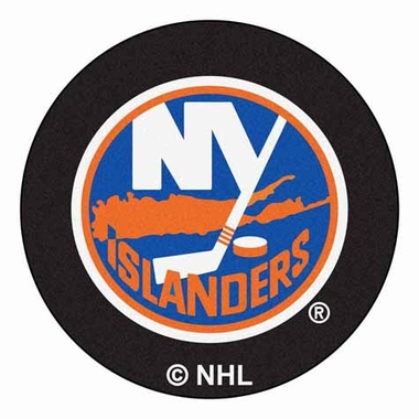 New York Islanders 27 Inch Puck Shaped Rug