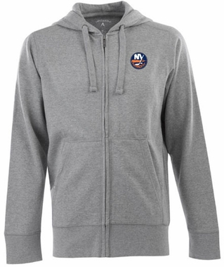 New York Islanders Mens Signature Full Zip Hooded Sweatshirt (Color: Gray)