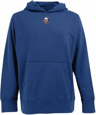 New York Islanders Mens Signature Hooded Sweatshirt (Team Color: Royal)