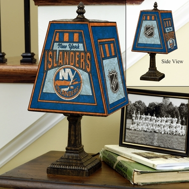 New York Islanders Small Art Glass Lamp