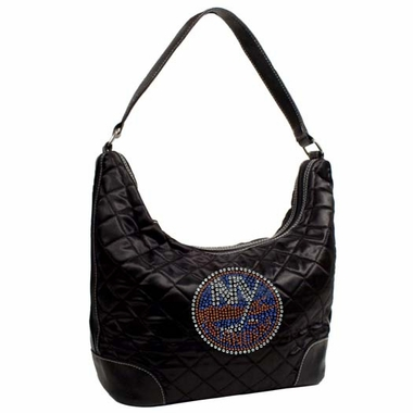 New York Islanders Sport Noir Quilted Hobo