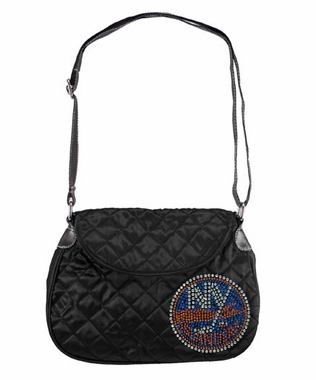 New York Islanders Sport Noir Quilted Saddlebag