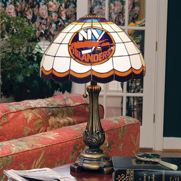 New York Islanders Stained Glass Table Lamp