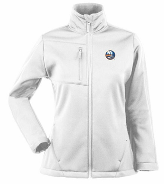 New York Islanders Womens Traverse Jacket (Color: White)
