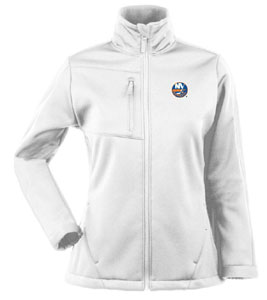 New York Islanders Womens Traverse Jacket (Color: White) - Medium