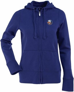 New York Islanders Womens Zip Front Hoody Sweatshirt (Team Color: Royal)