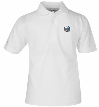 New York Islanders YOUTH Unisex Pique Polo Shirt (Color: White)