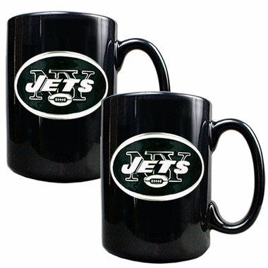 New York Jets 2 Piece Coffee Mug Set