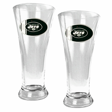 New York Jets 2 Piece Pilsner Glass Set