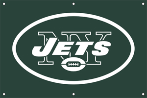 New York Jets 2 x 3 Horizontal Applique Fan Banner