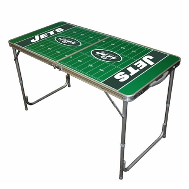New York Jets 2 x 4 Foot Tailgate Table