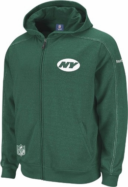 New York Jets 2011 Sideline Static Storm Full Zip Hooded Sweatshirt