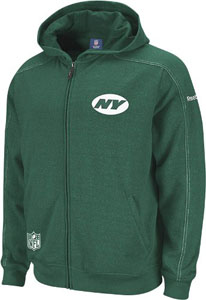 New York Jets 2011 Sideline Static Storm Full Zip Hooded Sweatshirt - Medium