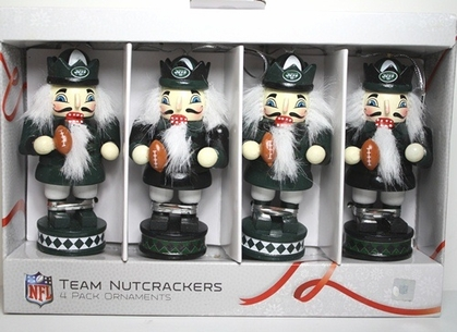New York Jets 2012 Nutcracker 4 Pack Ornament Set