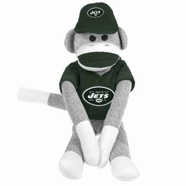 New York Jets 2013 27 Uniform Sock Monkey