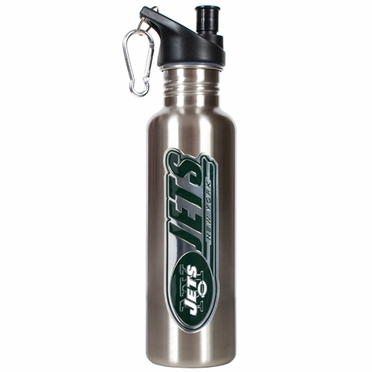 New York Jets 26oz Stainless Steel Water Bottle (Silver)