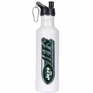 New York Jets 26oz Stainless Steel Water Bottle (White)
