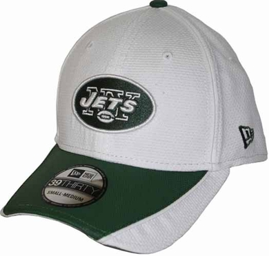 New York Jets 39THIRTY Abrasion Plus Fitted Hat - White