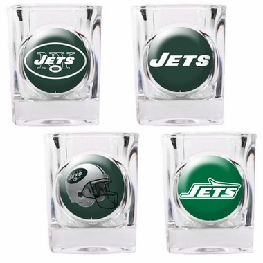 New York Jets 4 Piece Assorted Shot Glass Set