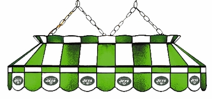New York Jets 40 Inch Rectangular Stained Glass Billiard Light