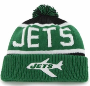 Infant New York Jets '47 Green Cuffed Knit Hat and Mittens Set