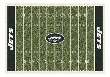 "New York Jets 5'4"" x 7'8"" Premium Field Rug"