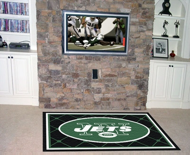 New York Jets 5 Foot x 8 Foot Rug