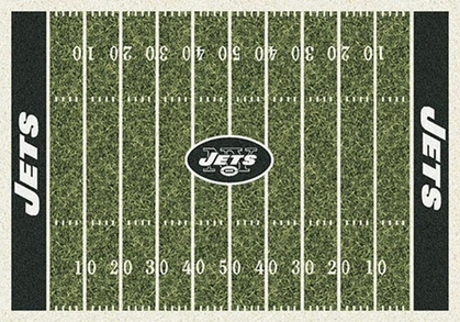 "New York Jets 7'8"" x 10'9"" Premium Field Rug"