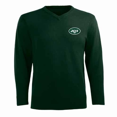 New York Jets Mens Ambassador Sweater (Team Color: Black)