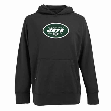 New York Jets Big Logo Mens Signature Hooded Sweatshirt (Alternate Color: Black)