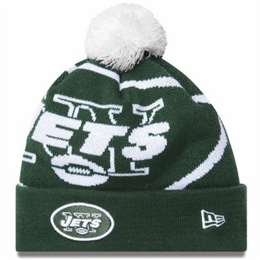 New York Jets Biggie Cuffed Knit Hat
