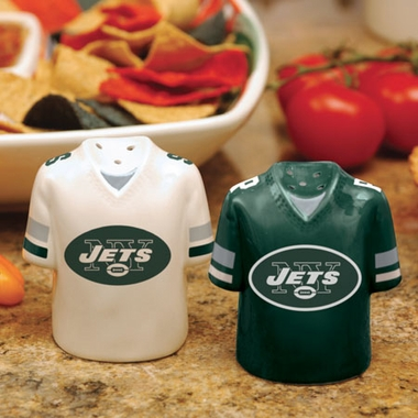 New York Jets Ceramic Jersey Salt and Pepper Shakers