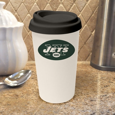 New York Jets Ceramic Travel Cup
