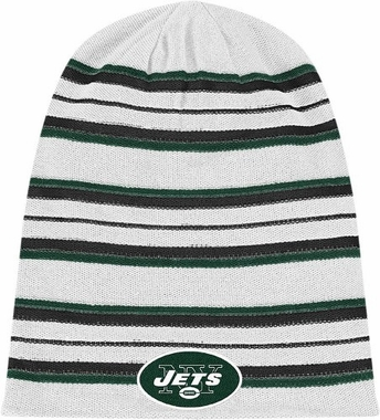 New York Jets Cuffless Reversible Long Knit Hat