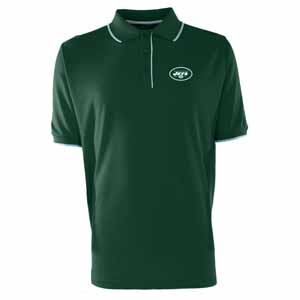 New York Jets Mens Elite Polo Shirt (Team Color: Green) - Large