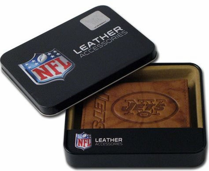 New York Jets Embossed Leather Trifold Wallet