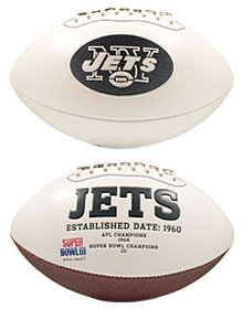 New York Jets Embroidered Signature Series Football