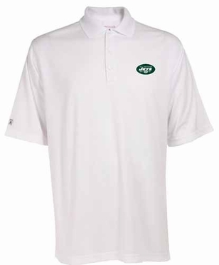 New York Jets Mens Exceed Polo (Color: White)