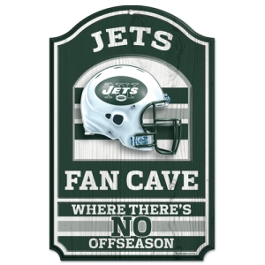 "New York Jets Wood Sign - 11""x17"" Fan Cave Design"