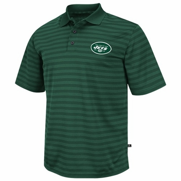 New York Jets FanFare IV Striped Polo Shirt