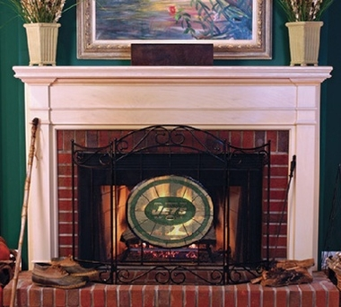 New York Jets Fireplace Screen