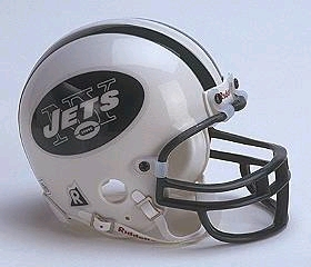 New York Jets Football Helmet - Mini Replica